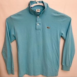 Lacoste Long Sleeve Polo Shirt Mens size 4 Blue